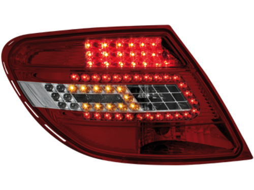 LED Taillights Mercedes Benz C-Class W204 07+ red/crystal