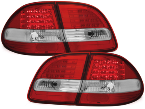 LED taillights Mercedes Benz E W211 T model_red/crystal