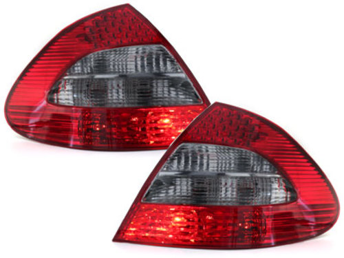 LED taillights Mercedes Benz E W211 Limousine_red/smoke
