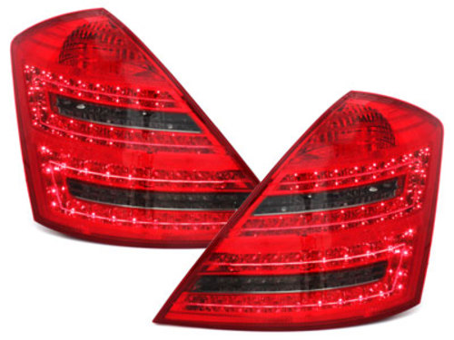 LED taillights Mercedes Benz S W221 Limousine_red/smoke