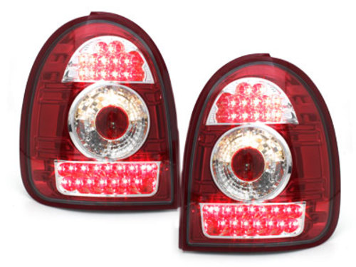 LED taillights Opel Corsa B 03.93-03.01 _ red/crystal