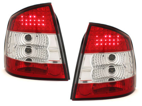 LED taillights Opel Astra G 98-04 _ red/crystal
