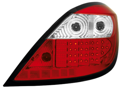LED taillights Opel Astra H 04+ 5D _ red/crystal