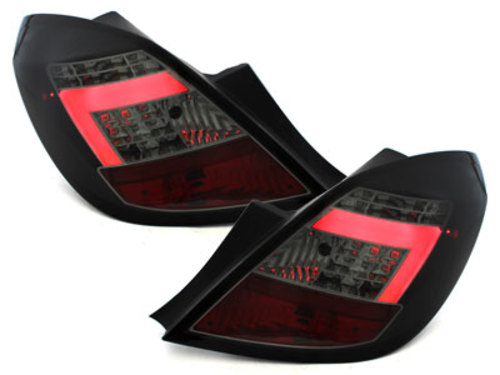 LED taillights Opel Corsa D 06-10 5D black / smoke