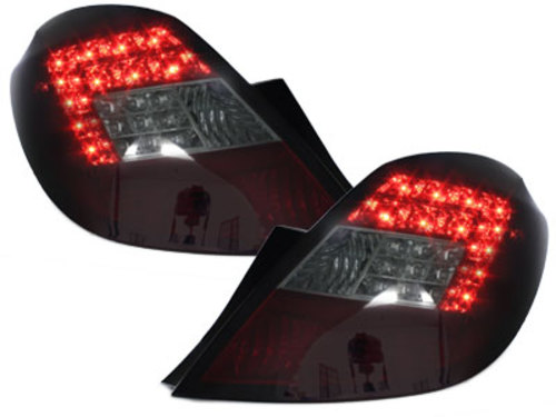 LED taillights Opel Corsa D 06-08 5D_red/smoke