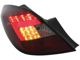 LED taillights Opel Corsa D 06-08 5D_black