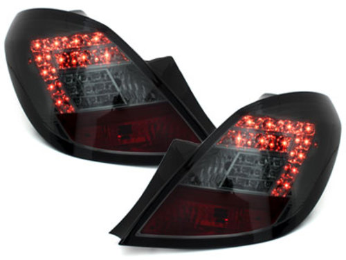 LED taillights Opel Corsa D 06-08 5D_smoke