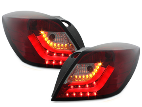 carDNA LED Taillights Opel Astra H GTC LIGHTBAR Red/Smoke
