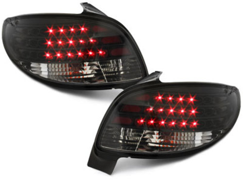 LED taillights Peugeot 206 98-09_ black