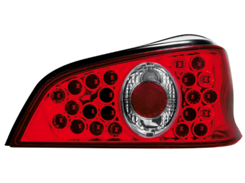 LED taillights Peugeot 106 96-99 _ red/crystal
