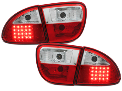 LED taillights Seat Leon 99-05 _ red/crystal