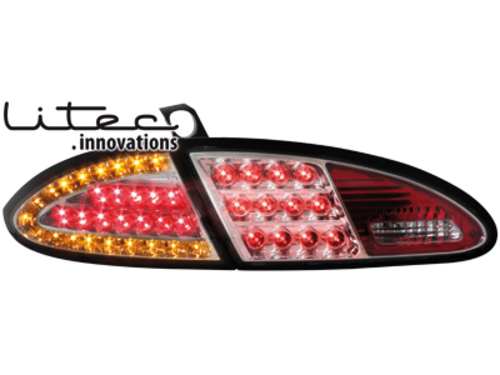 LITEC LED taillights Seat Leon 05-09 _  chrome_with LED indi