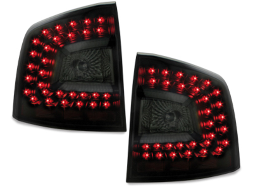 LITEC LED taillights Skoda Octavia 1Z 04+ black/smoke