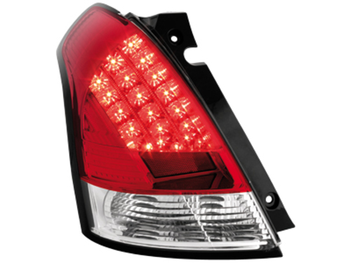 LED taillights Suzuki Swift 05-10_red/crystal