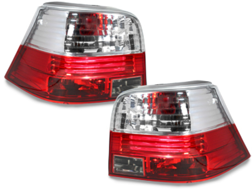 taillights VW Golf IV 97-04 _ red/crystal