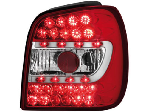 LED taillights VW Polo 6N 95-98 _ red/crystal