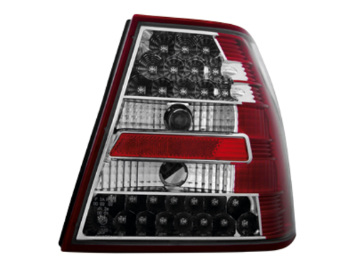 LED taillights VW Bora 4D 99-05 _ red/crystal