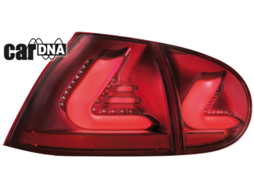 carDNA taillights VW Golf V 03-09 LIGHTBAR_red