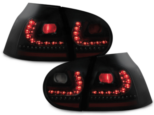 LITEC LED taillights VW Golf V 03-09_black/smoke