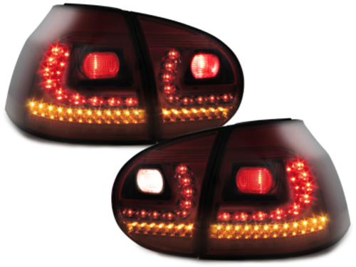 LITEC LED taillights VW Golf V 03-09_red/smoke