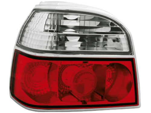taillights VW Golf III 91-98 _ red/crystal