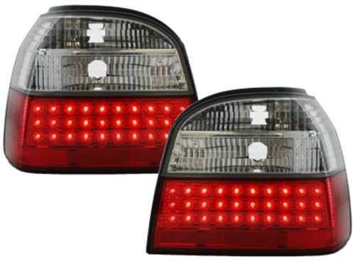 LED taillights VW Golf III 91-98 _ red/crystal