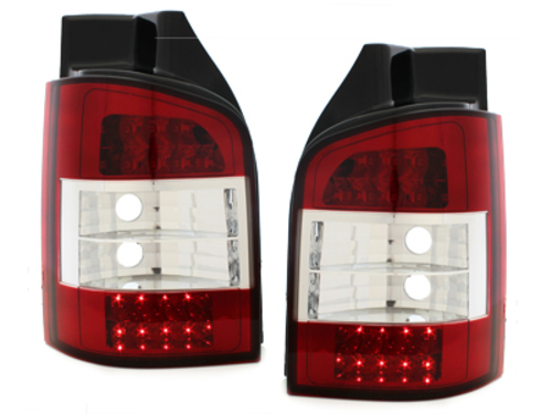 LED taillights VW T5  03+_ red/crystal