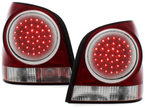 LED taillights VW Polo 9N2 3+5T 01-05 _ red/crystal