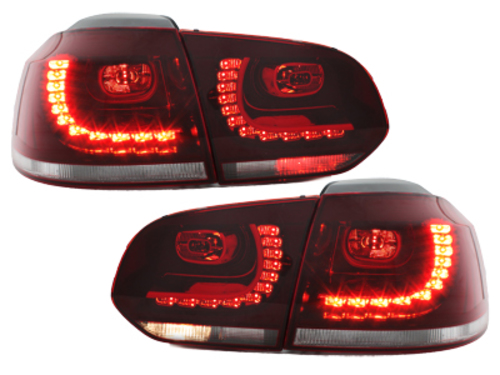 LED taillights VW Golf VI 08+_with LED indicator_red/crystal