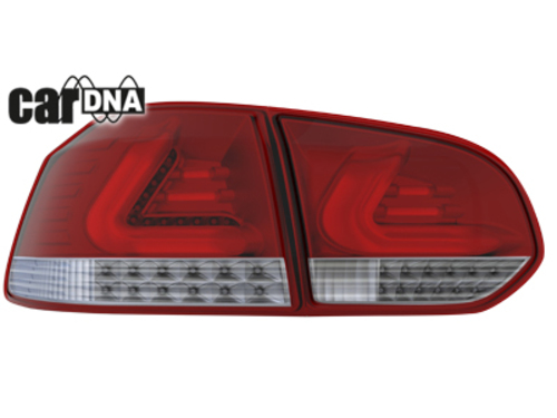 carDNA TAILLIGHTS GOLF VI SILVER RED CLEAR
