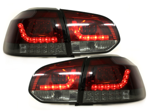 LED taillights VW Golf VI _with LED indicator_ red/smoke