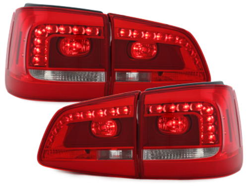 LED taillights VW Touran 2011+ red / clear