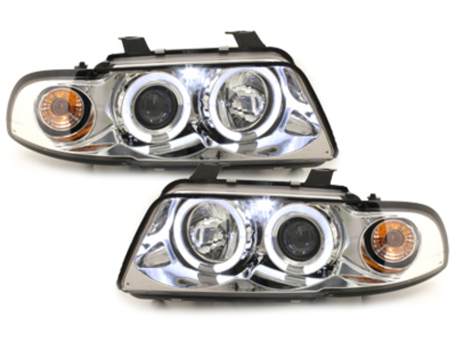 LED taillights VW Golf IV 97-04 _ red/crystal