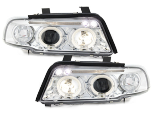 headlights AUDI A4 B5 95-98 _ 2 halo rims