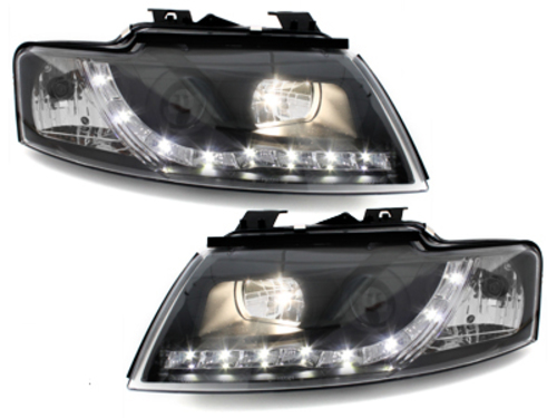 DAYLINE Headlights AUDI A4 8E 01-04 _ drl-optic _ black