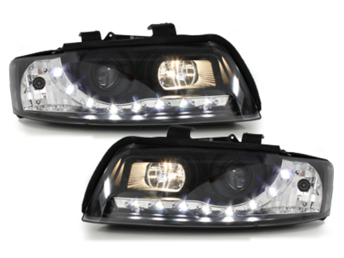 DAYLINE Headlights AUDI A4 8E 01-04 LED DRL Optic Black