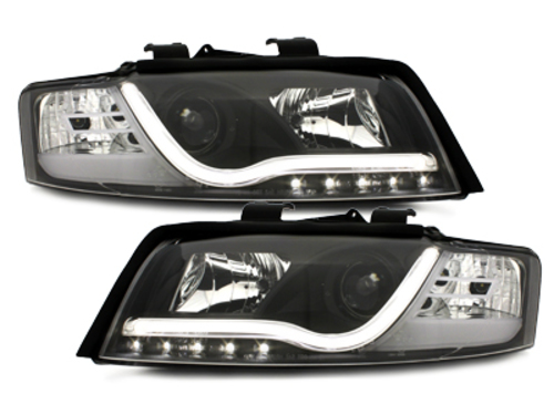 D-LITE headlights AUDI A4 8E 01-04 daytime running lights black