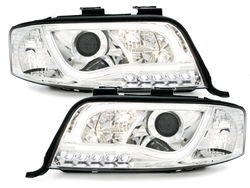 DECTANE headlights AUDI A6 4B 01-04_drl_chrome