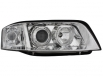 headlights Audi A6 01-03 _ 2 halo rims