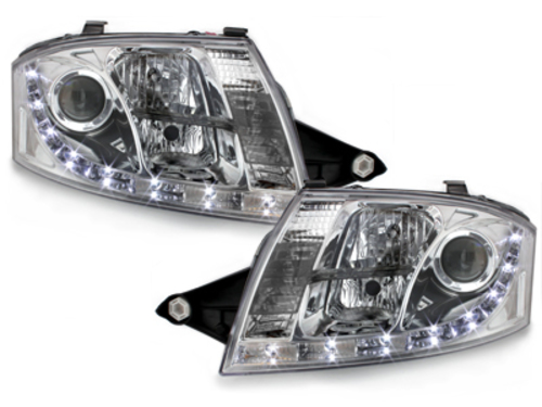 D-LITE headlights AUDI TT 8N_daytime running light_chrome