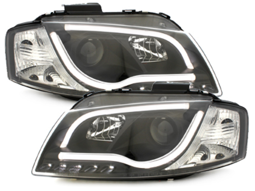 D-LITE Evo headlights AUDI A3 8P daytime running light black