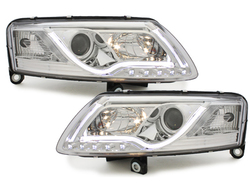 DECTANE headlights AUDI A6 4F 04-07 daytime running light bla