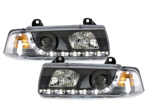DAYLINE headlights BMW E36 Lim. 92-98 _drl-optic _ black