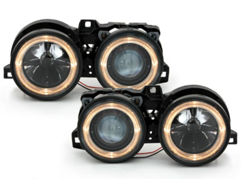 headlights BMW E30 09.87-10.90_2 halo rims_black