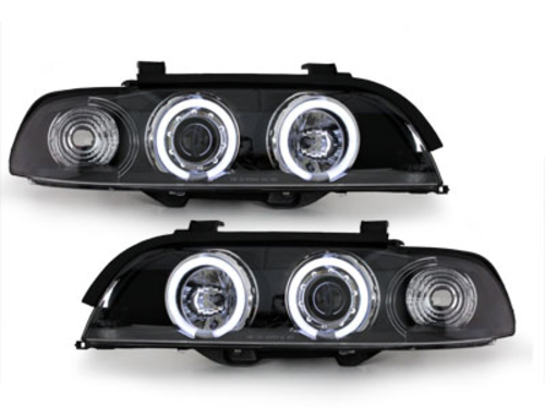 headlights BMW E39 5er 95-00_2 CCFL halo rims_black