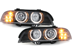 headlights BMW E39 5er 95-00_LED indicator_black