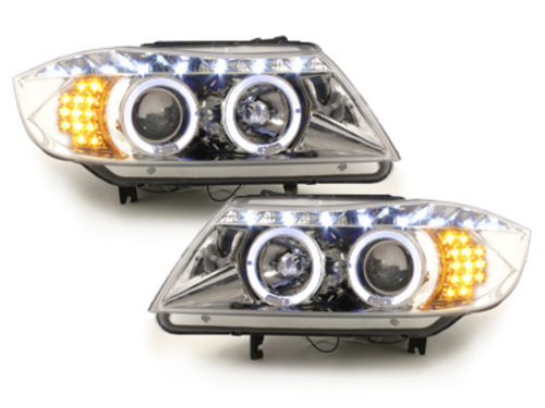 DECTANE DRL look headlight BMW E90 05+_2 halo rims_drl optic_LED_chr