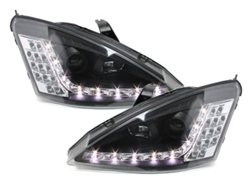 DAYLINE headlights suitable for FORD Focus 01-04  _drl-optic _ black