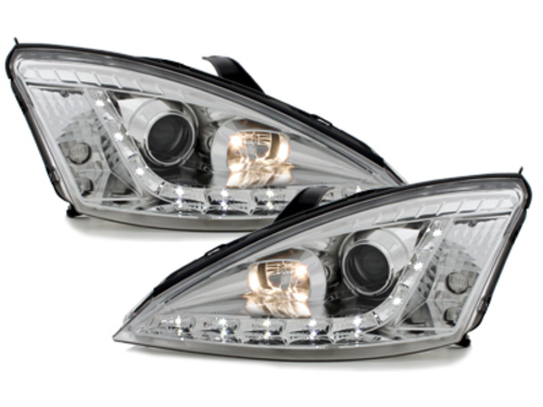 DAYLINE headlights Ford Focus 98-01 _drl-optic _ chrome