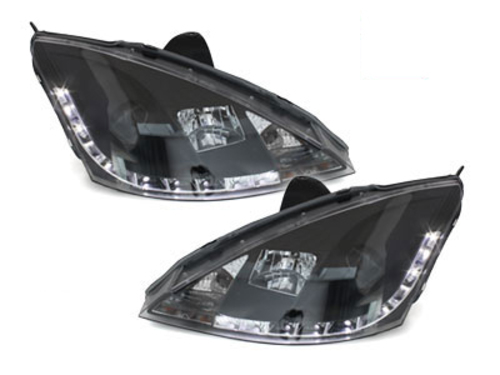 DAYLINE headlights Ford Focus 98-01 _drl-optic _ black